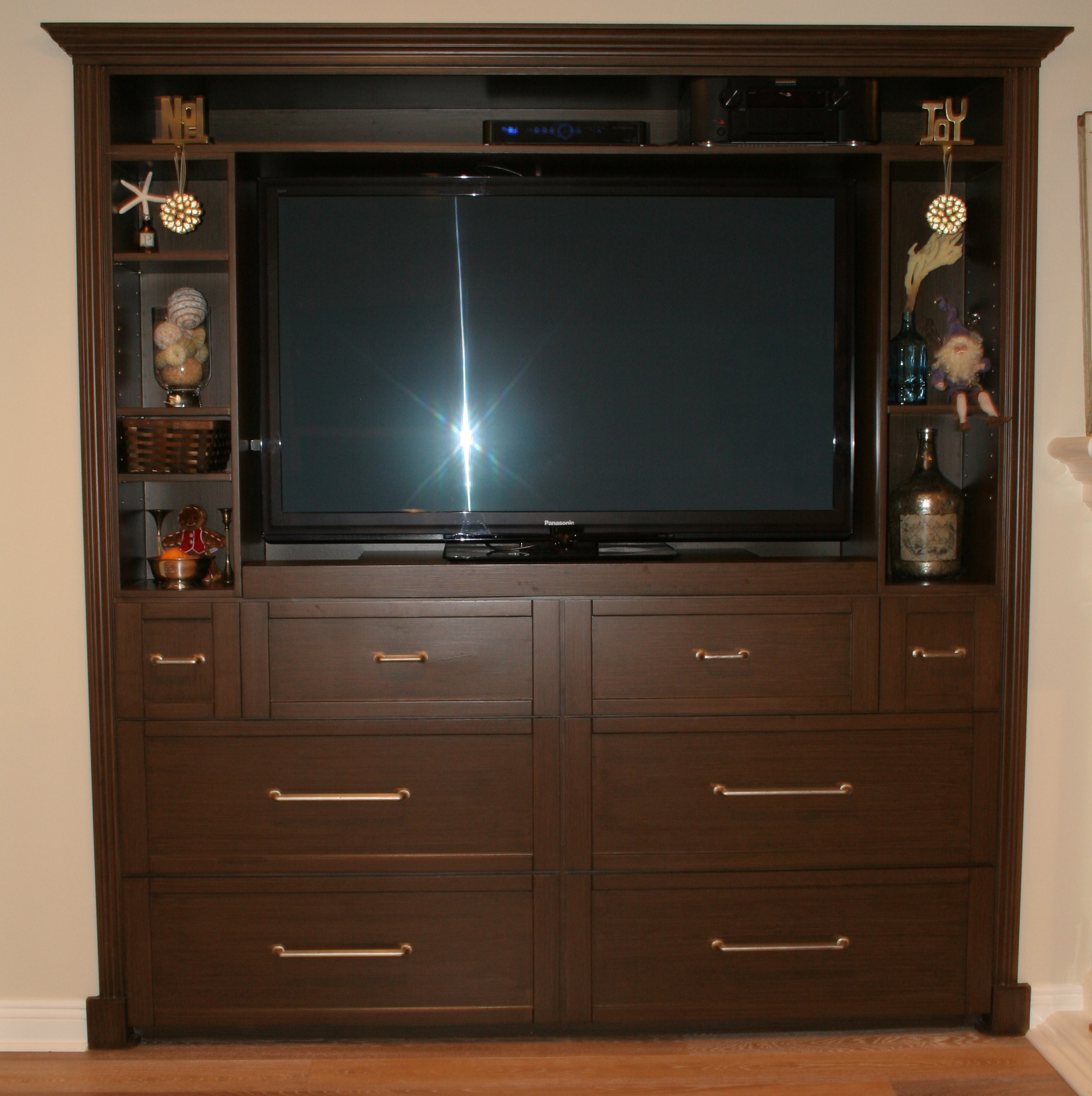 a built-in entertainment center on steroids