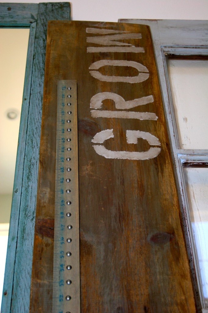 Restoration Hardware inspired height & wood growth chart (4)