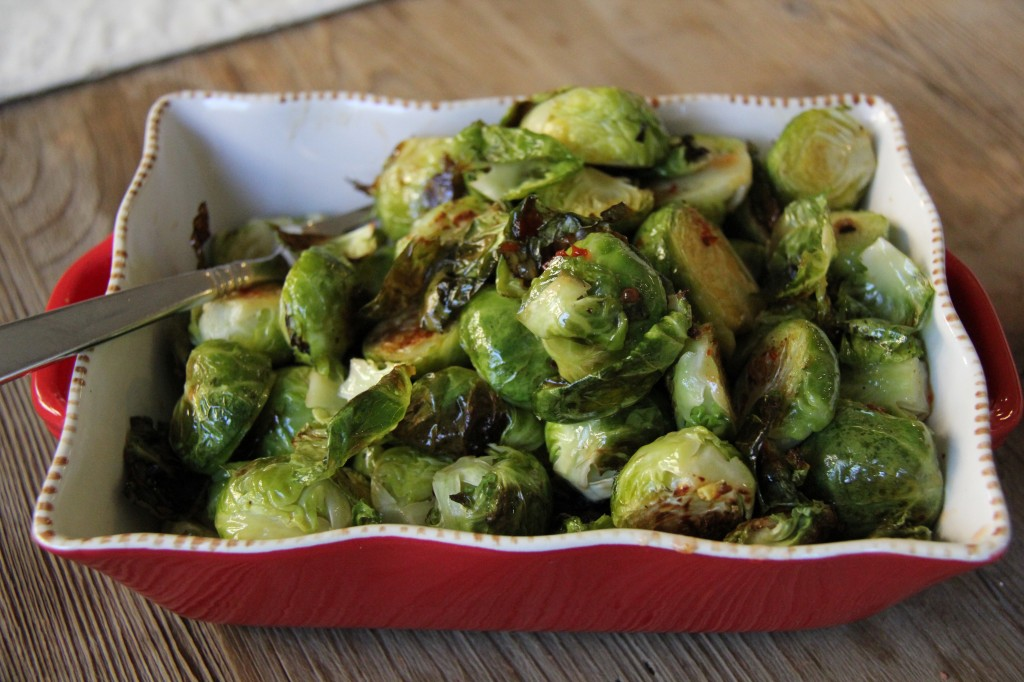 brussels sprouts in spicy sweet & sour sauce