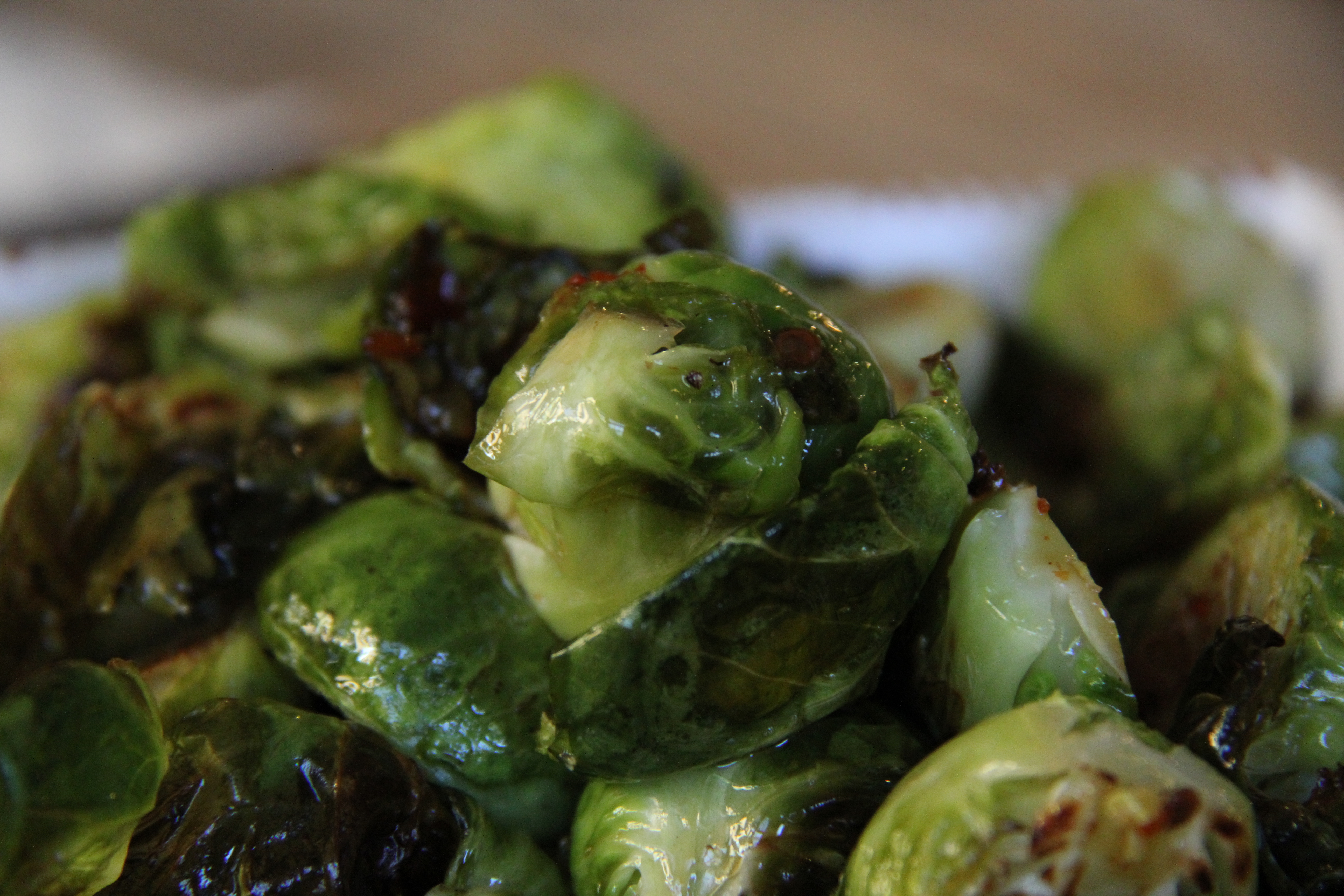imeeshu.com — brussels sprouts with chinese sausage and spicy sweet ...