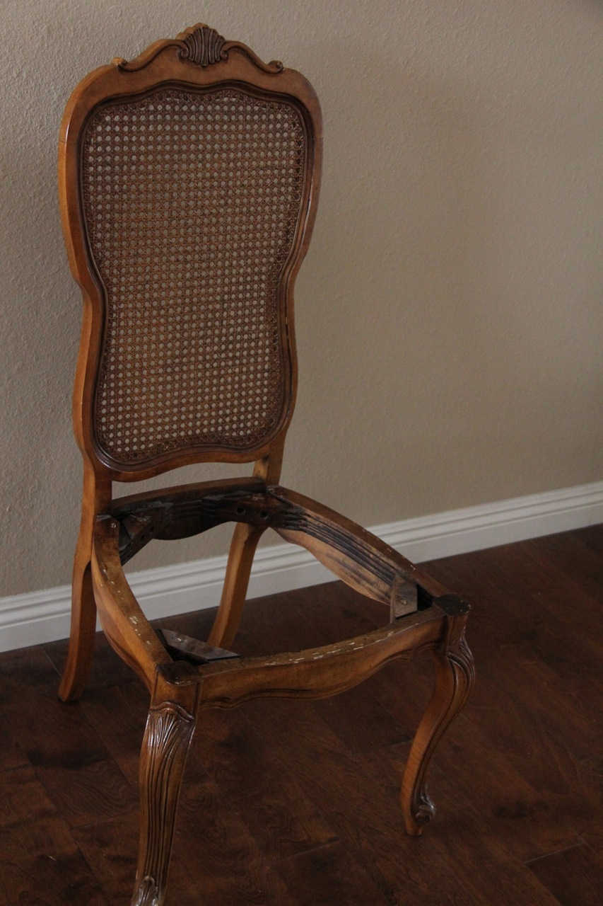 maple dining chair with cane backing