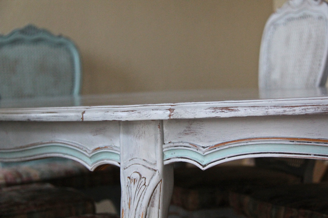 dining table detail close up paris gray