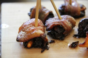 feta stuffed dates wrapped in bacon.  you're welcome.