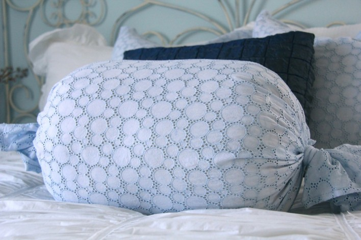 eyelet fabric dyed with Annie Sloan Chalk Paint
