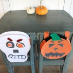kids' dining table painted in Miss Mustard Seed kitchen scale