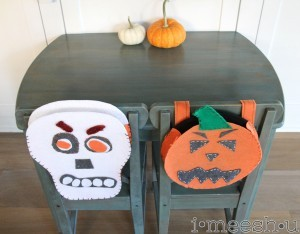 MMSMP kids' dining table redo and halloween DIY