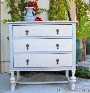 antique dresser gets a Swedish facelift