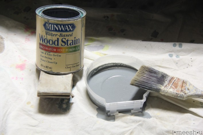 Minwax wood stain in grayish blue
