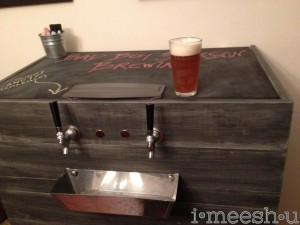 Restoration Hardware finish on a keg