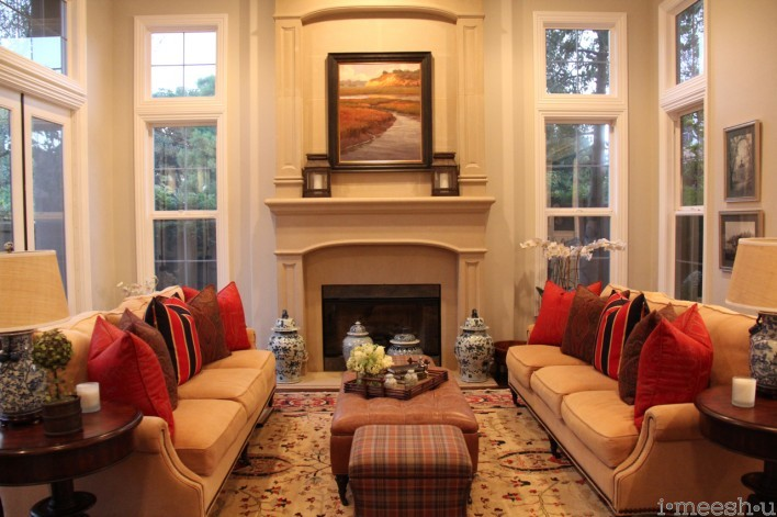 traditional formal living room with high ceilings