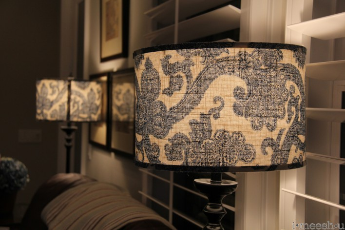 blue and white paisley lampshades traditional home