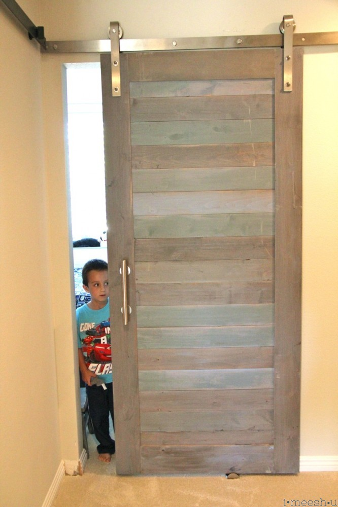 barn door for kids' room. blues, beachy, annie sloan