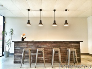 stain a bar to look rustic & weathered