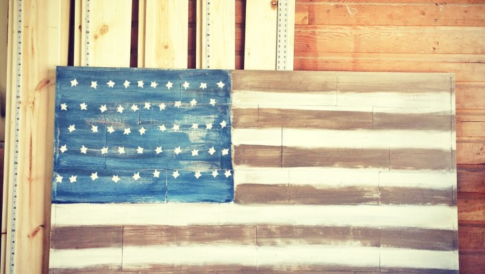 Old Glory – wooden American flag