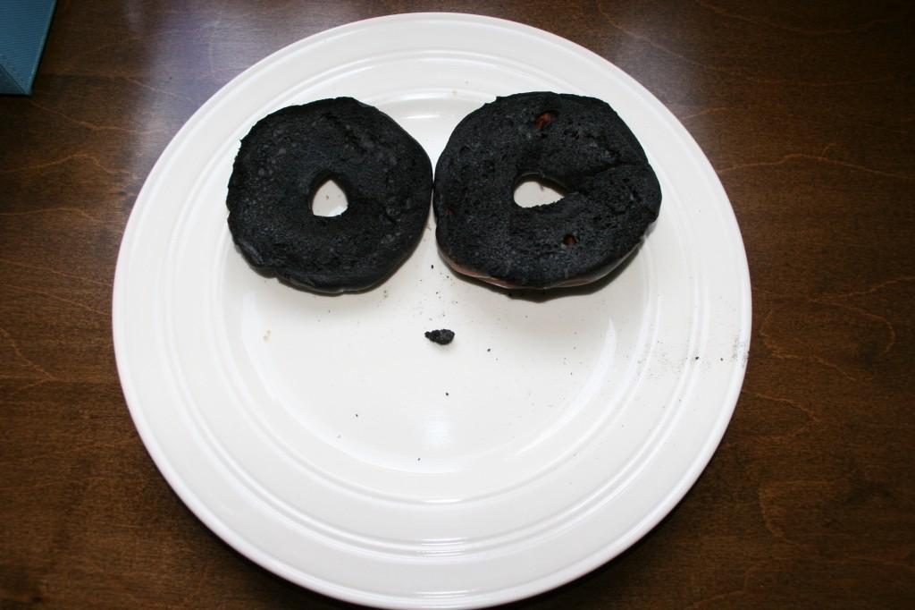 super crispy burnt bagel