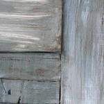 close up of Restoration Hardware wood finish on vintage door