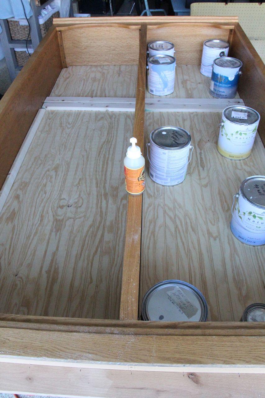 bead board secured with gorilla glue