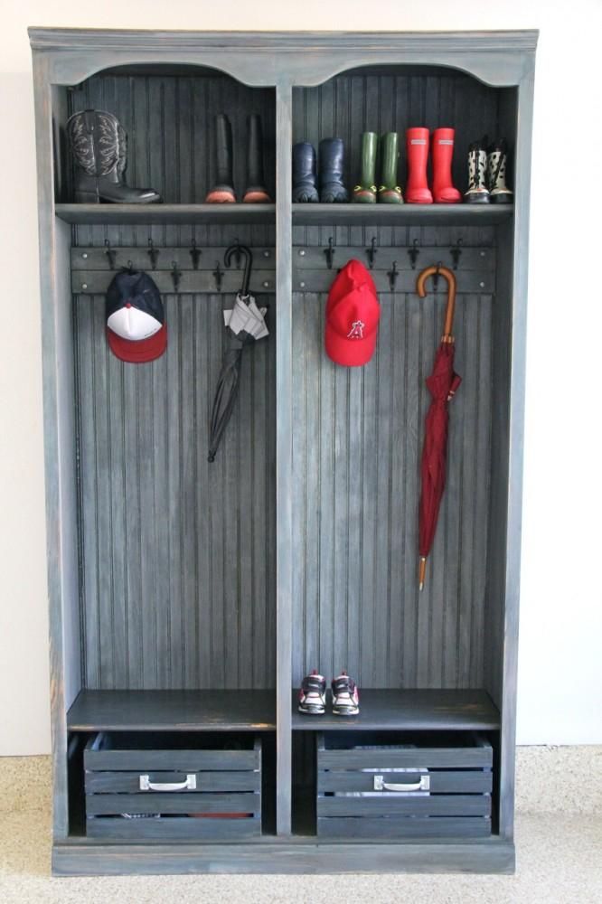 Restoration Hardware Locker Knock Off Wood Finish With Annie Sloan Chalk Paints Imeeshu Com