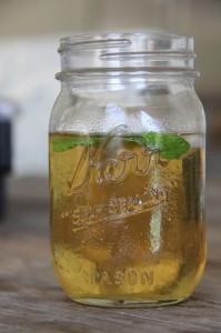 cool, refreshing mint tea