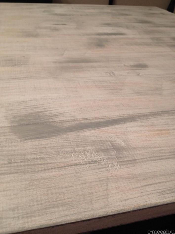 annie sloan chalk paint dry brushed paris gray