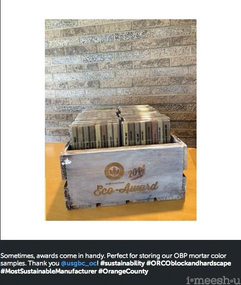 usgbc orange county wooden crate award