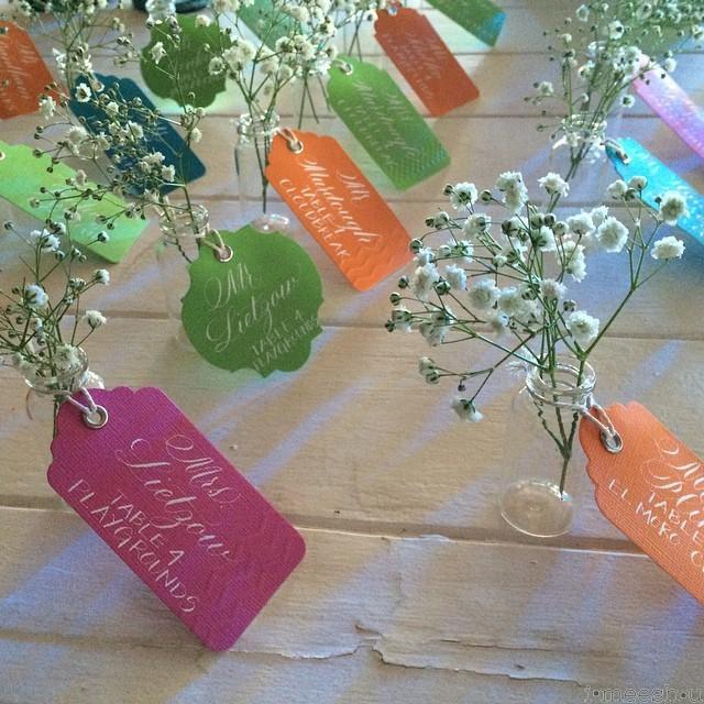 wedding-name-cards-mini-glass-vases