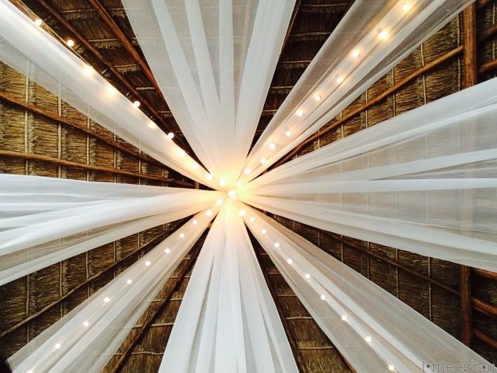 white-fabric-draped-wedding-lights